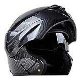 Casco da motociclista in fibra di carbonio, casco integrale per motociclisti, casco da motociclista per tutte le stagioni