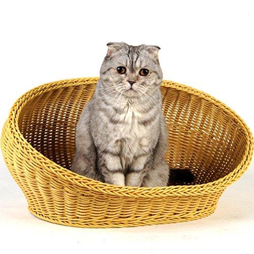 GAODUZI Haustier-Katzen-Litter-Sommer-Haustier-Gewächshaus PP-Harz-Kennel Cane Cat Litter ( größe...