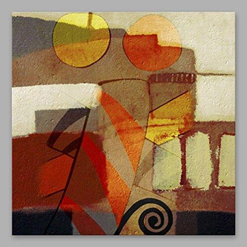 WJ-HOME Öl Malerei von Hand Bemalt - Abstrakte Kunst Leinwand gehören Innerer Rahmen, 60 cm x 60 cm -