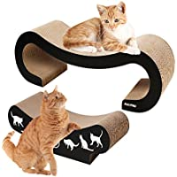 2 in 1 Colossal Large Cat Scratcher Lounge, RISEPRO Premium Cat Scratcher , Infinity Lounge Corrugated Cardboard is Reversible Ergonomic Scratching Post, Cutouts to Hide Toys SCB8627-2