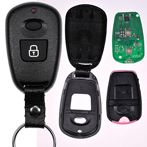 Auto Schlüssel Funk Fernbedienung 1x Funk Gehäuse + 1x 434 MHz Sender Sendeeinheit + 1x Batterie für Hyundai Sm Sender