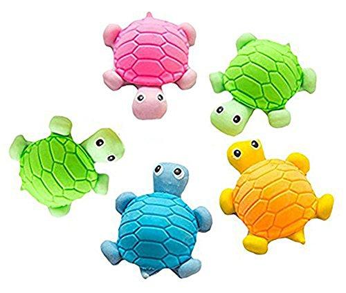 Preisvergleich Produktbild Hosaire 5x Eraser Radiergummi Schildkröte-Form Radierer Schulbedarf Schmutzradierer Briefpapier (Zufällige Farbe)