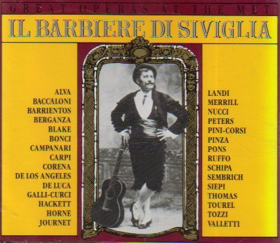 Il Barbiere Di Siviglia (Great Operas at the Met) by Maria Barrientos (1992-10-21)