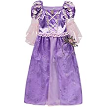 Disney Princess officially licensed Rapunzel fancy dress up Girls Book Week Tangled Costume with Tiara. Age 3-4 Years, Made for the George Collection by Disney's Tangled