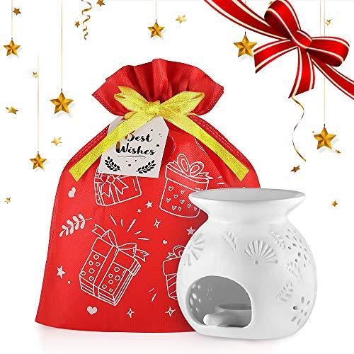 Scheda dettagliata ecooe lampade Aroma in Ceramica con Il Cucchiaio di Candela(Cadeau)