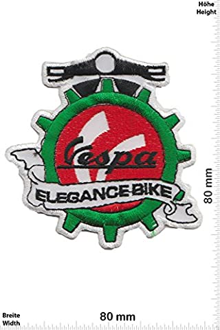 Patches - Vespa - Scooter - Elegance Bike - Motor sports - Sports Motorcycle Vespa - Iron on Patch - Applique embroidery Écusson brodé Costume Cadeau- Give Away