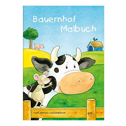 Kinder lieben Ausmalen! - Malbuch DIN A4, ab 3 Jahre, Bauernhof mit verschiedenen Tier- und Bauernhofmotiven für Jungen und Mädchen