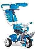Smoby 444208 - Tricycle Baby Balade - Tricycle Evolutif avec Roues Silencieuses - Dispositif Roue Libre - Bleu