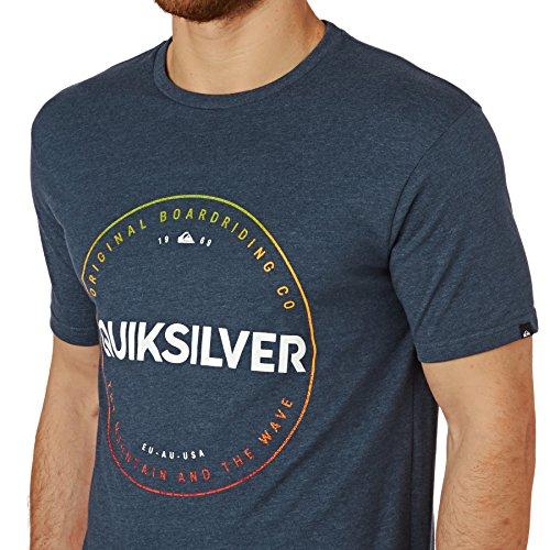 Herren T-Shirt Quiksilver Hether Timepiece T-Shirt dark denim heather