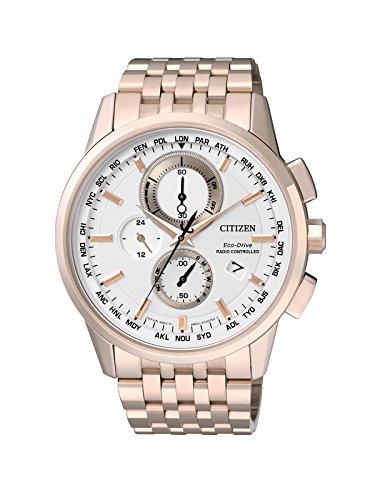 Citizen uomo-orologio RADIO CONTROLLED luenette cronografo in acciaio inox AT8113-55A