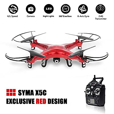 Newest Syma X5C 2.4GHz 4CH RC Quadcopter + 2MP Camera + 3 Blade Propeller Gift + 2GB TF Card by Syma