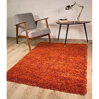 Terracotta Luxury Shaggy Rug 5 Sizes Available 80cmx150cm