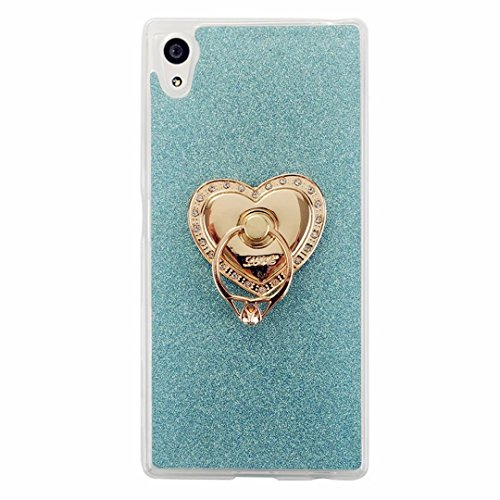 51vhRHuv1lL UK BEST BUY #1MUTOUREN Sony Xperia Z3 Compact/Z3 Mini case cover Cool 3D Romantic Design Pattern Rubber Frame Flexible TPU Soft Silicone Bumper shock resistant bling glitterCase Cover Cyan price Reviews uk