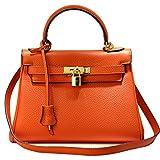 MACTON cuir femme épaule de sac à main sac Messenger multi-usages MC-8030 (orange)