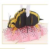 Qwer Papier stéréo Fait Main 3D découpant la Carte stéréo d'abeille Carte...