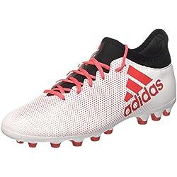 Adidas X 17.3 AG, Botas de fútbol para Hombre, Blanco (Ftwbla/Correa / Negbás 000), 45 1/3 EU