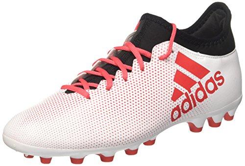 adidas Herren X 17.3 AG Fußballschuhe, Weiß (Ftwwht/Reacor/Cblack), 45 1/3 EU