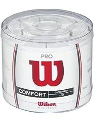 WILSON Pro 60 Bckt WH Overgrip, Unisex, Blanco, Talla Única