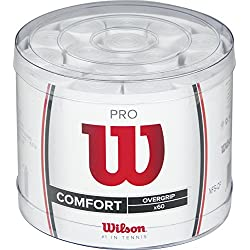 Wilson Pro 60 Bckt Wh - Overgrip, color blanco, talla única