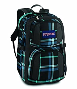 Jansport Merit Daypack - Black/Blue Streak Perry Plaid from Jansport