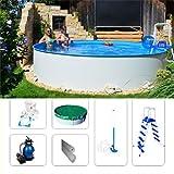 Stahlwandbecken Komplettset Fun-Zon 3,50 x 1,20m Rundbecken, Swimmingpool