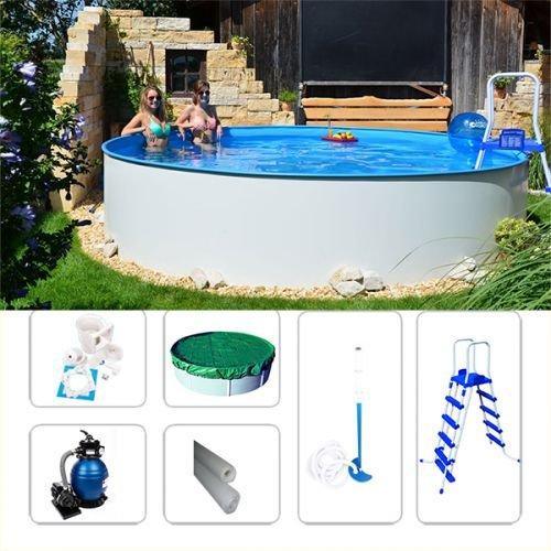 Stahlwandbecken Komplettset Fun-Zon 3,50 x 1,20m Rundbecken, Swimmingpool, Schwimmbecken-Set, Poolset In Verschiedenen Größen