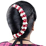 Kabello Reuseable Hair Gajra (Red-White)