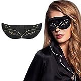 Frcolor Schlaf-Maske, natürliche Seide Schlaf-Augen-Maske Tier-Fox-Muster Schlaf-Augen-Abdeckung zum Schlafen, Reisen, Schichtarbeit, Nickerchen