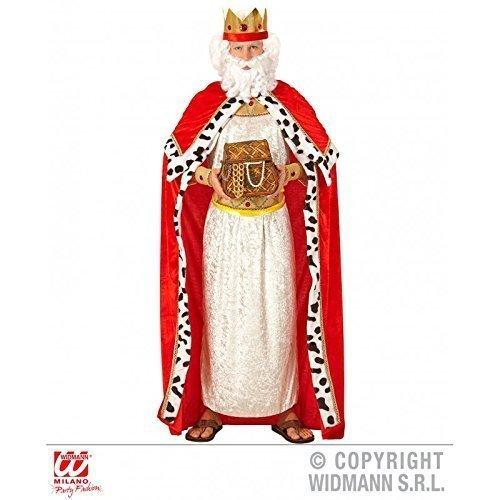 Kostümzubehör Königsumhang mit Königskrone / Königinnenumhang / Royal King Cape für Erwachsene Gr. XL = 54