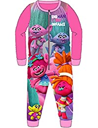 Kids Girls Boys Fleece Character All In One Onesie Pyjamas PJ's Onezie Onezee Size UK 1-8 Years