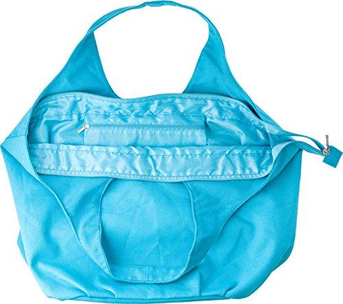 Strandtasche Hellblau mit innenliegendes Fach die Tasche hat sehr viel Platz