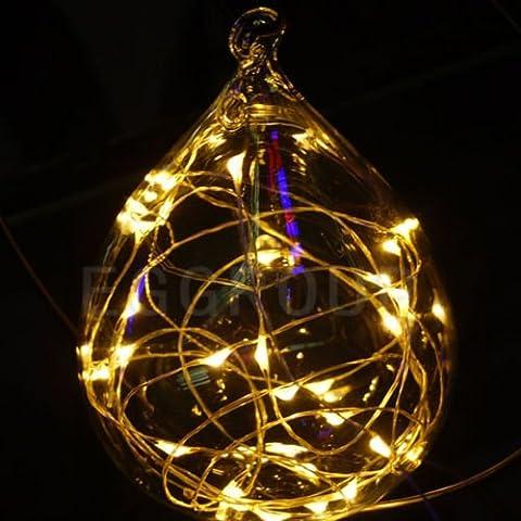 Bianco caldo Natale Wedding Xmas Party Decor Outdoor Fairy String Luce solare 5m 50led rame