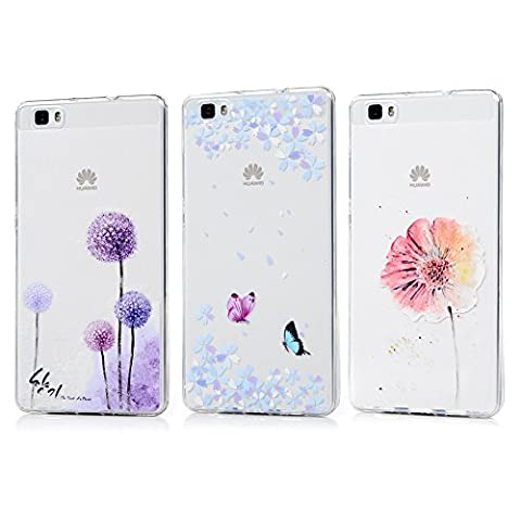 3 x Huawei P8 lite Schutzhülle Shell Kasos Back Cover