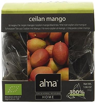 ALMA Ceylan Mango Thé Noir Bio 15 Pyramides 30 g