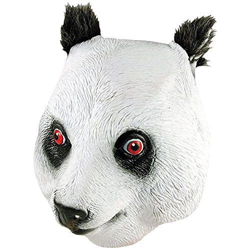 Spassprofi Vollmaske Panda Bär Tiermaske Pandamaske Masken (Maske Panda Bär)