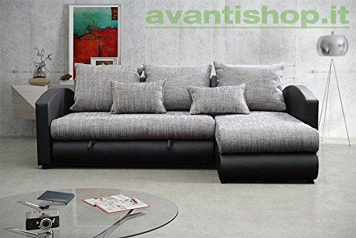 AVANTI-TRENDSTORE-Divano-ad-angolo-in-similpelle-nera-ca-235x82x172cm