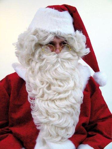 langer Rauschebart Bart blond Kostüm Zubehör Weihnachtsmann Nikolaus