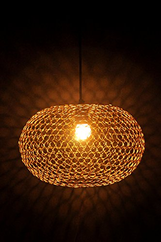 Logam Gold Orb hanging lamp (Ring collection)