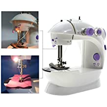 Sewing Machine, TopDiscover Portable Mini Nähmaschinen 2-Speed with Light + 4 Bobbins