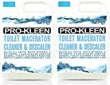 10L of Pro-Kleen Toilet Macerator Cleaner & Descaler - Highly Concentrated, Long-Lasting Formula - Compatible With All Saniflo Pump Units, Toilets & Urinals - Helps Prolong Life of Unit