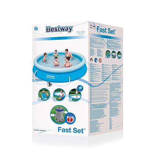 Quick up Pool Bestway 57112 Fast Set Pool 366 x 76cm + Pumpe - 4