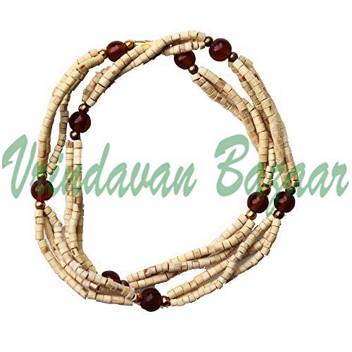 Tulsi Mala mit farbigem Perlen, Vrindavan Basar -