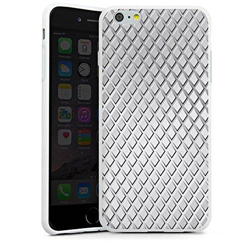 Apple iPhone X Silikon Hülle Case Schutzhülle Stahl Rauten Muster Silikon Case weiß