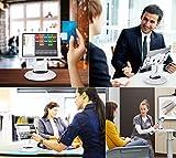 AboveTek, supporto per iPad, per chiosco, rotazione di 360°, ideale per tablet tra i 15 e i 34 cm, per iPad Mini, design girevole per negozio, POS, vetrina, reception, cucina, scrivania White by AboveTEK