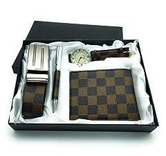 Idea Regalo - Cofanetto regalo uomo orologio penna portafoglio e cintura set laurea