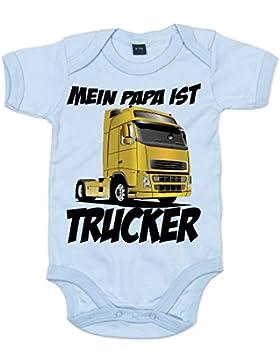 Shirt Happenz Papa's Beruf ist Trucker   Papi'S Kleiner Engel   Berufung   Babybody   Babyeinteiler   Oeko-Tex...