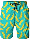 Die besten Board Herren - Loveternal Outdoor Shorts Herren Strand Shorts 3D Banana Bewertungen