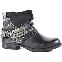 King Of Shoes - Botas estilo motero Mujer