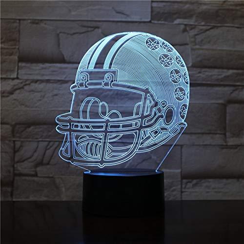 Mozhate Ohio State Buckeyes Football Helm 3D Led-nachtlicht USB Lampara Kinder Kinder Geschenk Farbwechsel Tischlampe Schlafzimmer Gadget,Ohio - Ohio State Buckeyes Led