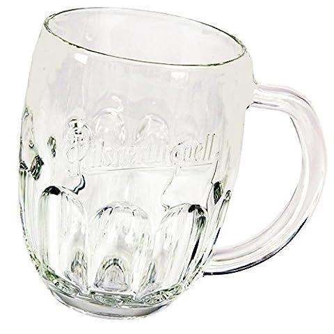 PILSNER URQUELL BEER GLASSES, VERRES, SET OF 2 Glasses 0,3 Litre lined, Brand NEW, Limited Edition